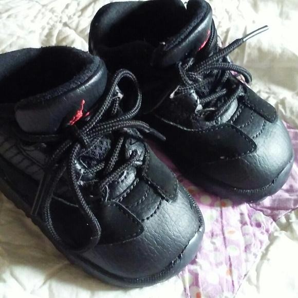 9deae3295c8115 jordans Other - Infant shoes size 4c JORDAN SHOES BLACK N RED